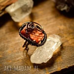 pomarańczowe pierścionki pierścionek adrahil- duży