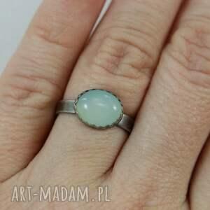 pierścionki pierścionek agat aqua w srebrze -