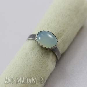 agat pierścionki turkusowe aqua w srebrze - pierścionek