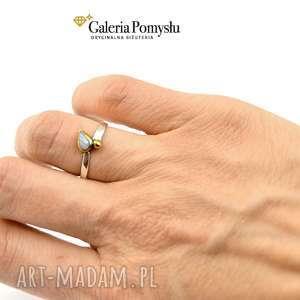 agat pierścionki srebrne blue aice