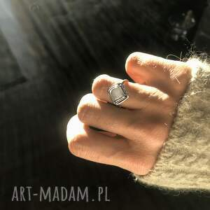 srebro pierścionki agat dendrytowy