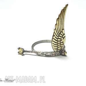 nietuzinkowe pierścionki srebro angel vol. 2 - pierścionek