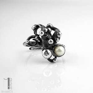 pierścionki metaloplastyka-srebro anthozoa - srebrny pierścionek