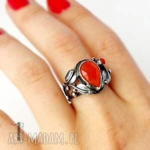 koral pierścionki aurantia srebrny pierścionek