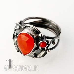pierścionki koral aurantia srebrny pierścionek