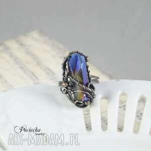 gustowne pierścionki kwarc aurora - duży pierścionek z kwarcem