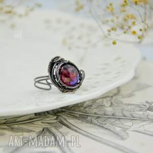 unikatowe regulowany rozmiar aurora purple - pierścionek