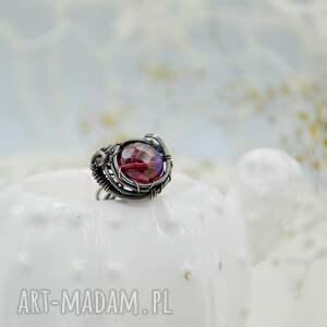fioletowe duży pierścionek aurora purple