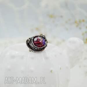 regulowany rozmiar aurora purple - pierścionek