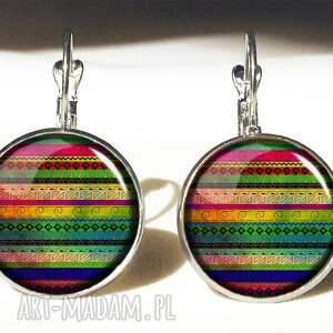 azteckie pierścionki kolorowe wzorki - pierścionek