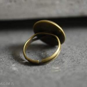 pierścionki płytki azulejos iii brązowy pierścionek