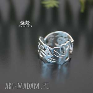 obrączka ażurowy pierścionek