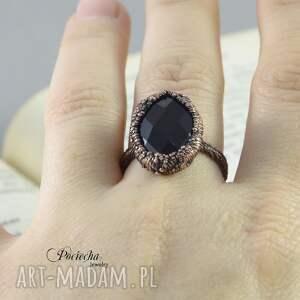 miedź pierścionki black crystal - pierścionek