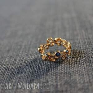 Anna Grys złote srebro błękit królewski