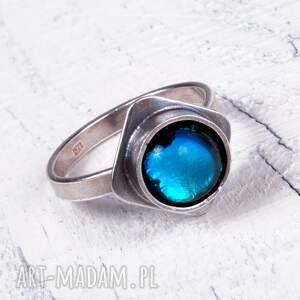 blue -pierścionek srebrny a422