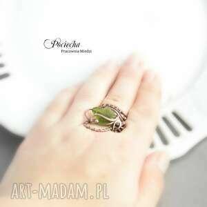 szkło pierścionki bluszcz - pierścionek ze szklanym