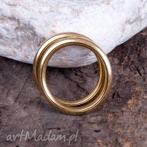 złoty c082 pierścionek, obrączka