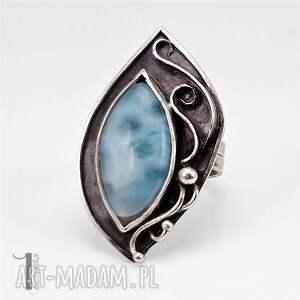 pierścionek pierścionki turkusowe caelestis srebrny pierścień