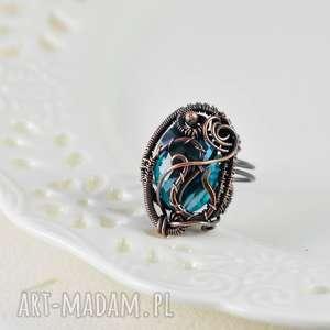 upominki na święta biżuteria z-miedzi crystal - pierścionek