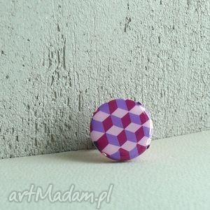 geometryczne cube, pierścionek z polymer clay i