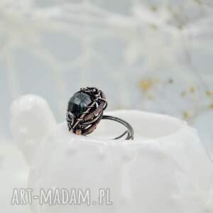 pierścionek z-miedzi dark night - duży