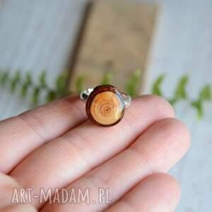 My Piece of Wood Drewniany pierścionek - modrzew i srebro - leśny