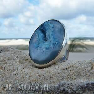 efektowne pierścionki surowy druzy & seashell ring