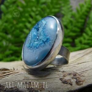 pierścionki surowy druzy & seashell ring
