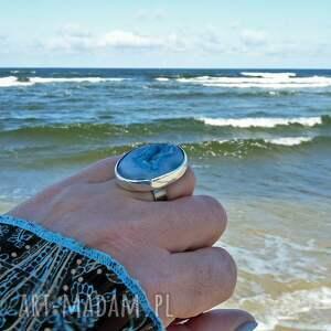 surowy pierścionki druzy & seashell ring