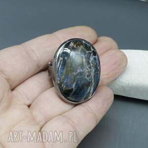 regulowany elegancki pietersit pierścionek