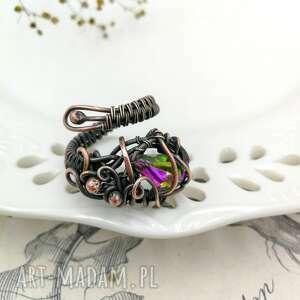 pierścionek z-miedzi kolorowe fairy - regulowany
