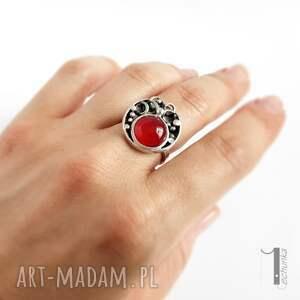 unikalne pierścionki srebrny fragaria pierścionek