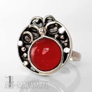 unikalne pierścionki pierścionek fragaria srebrny