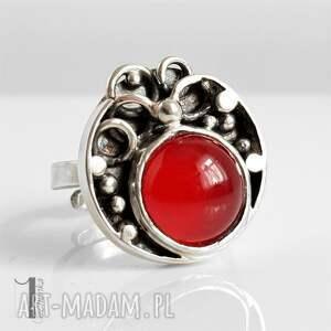 szare pierścionki pierścionek fragaria srebrny