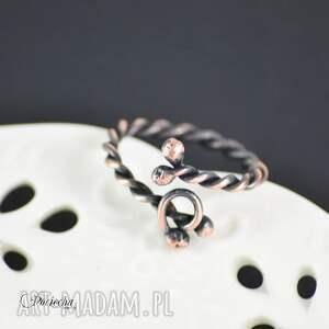 pierścionek z-miedzi freja
