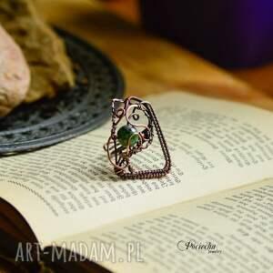 pierścionki duży-pierścionek green geometry - duży pierścionek