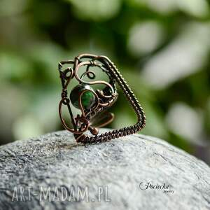 pierścionki pierścionek green geometry - duży