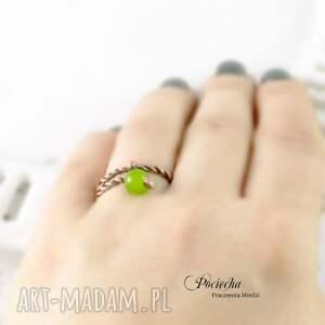 retro pierścionki green - pierścionek z jadeitem