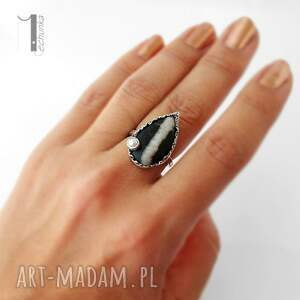 greystone srebrny pierścień z perłą