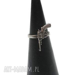 srebro gun - pierścionek