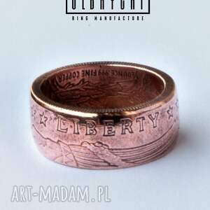 pierścionki miedź indian - rękodzielniczy pierścień