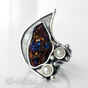 srebrne kwarc invaerne i srebrny pierścionek