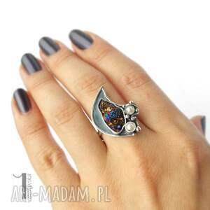 perła invaerne i srebrny pierścionek
