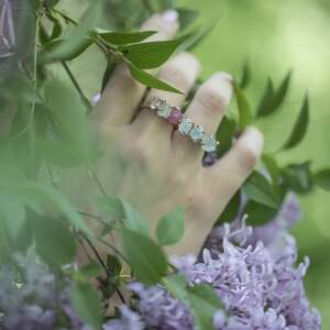 kamień pierścionki turkusowe 925/18k różowo pozł. pierścionek