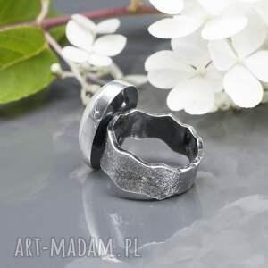 srebro kamień księżycowy - pierścionek