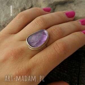 metaloplastyka pierścionki kandela - srebrny pierścień