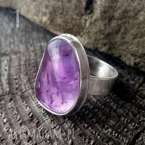 różowe pierścionki 925 kandela - srebrny pierścień
