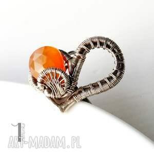 srebrne srebro karmelove - srebrny pierścionek