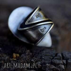 pierścionki srebro królewski pierścień z labradorytem