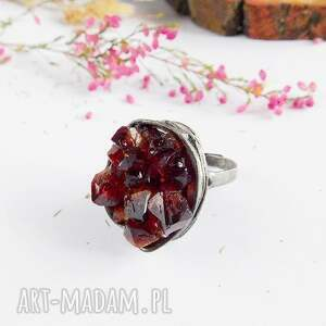 pierścionki minerał kryształki cytrynu - pierścionek